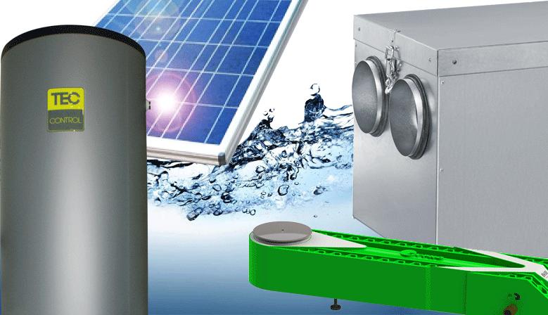 air, eau, énergie, solutions teccontrol pour ECS, ventilation, climatisation, double-flux